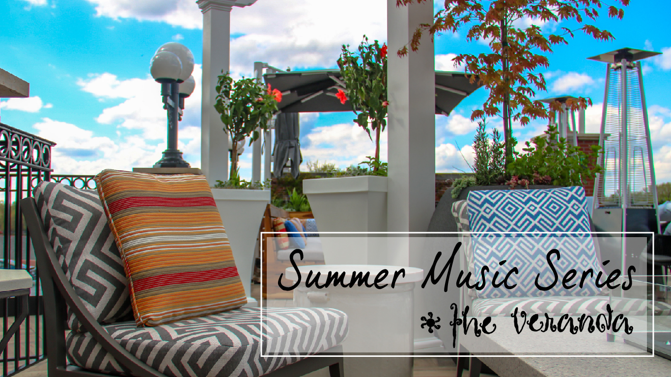 Outdoor patio summer music header