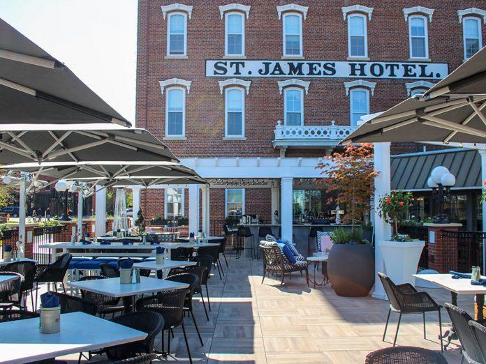 St. James patio