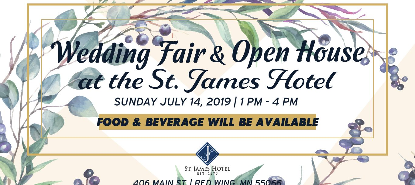 Wedding Fair and Open House flyer at St. James hotel